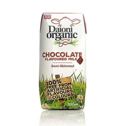 Daioni Organic Chocolate Flavoured Organic Milk 200ml [WHOLE CASE] by Daioni Organic - The Pop Up Deli