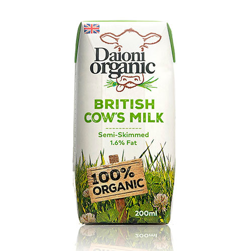 Daioni Organic UHT Semi-skimmed Organic Milk 200ml [WHOLE CASE] by Daioni Organic - The Pop Up Deli