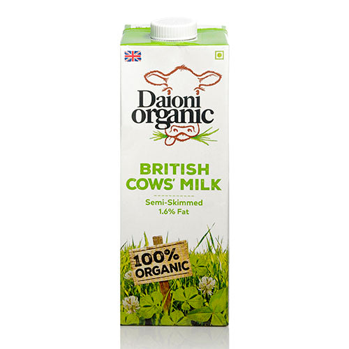 Daioni Organic UHT Semi-skimmed Organic Milk 1L [WHOLE CASE] by Daioni Organic - The Pop Up Deli