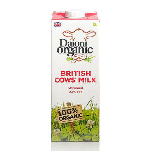 Daioni Organic UHT Skimmed Organic Milk 1L [WHOLE CASE] by Daioni Organic - The Pop Up Deli