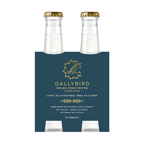 Gallybird Premium Tonic Water - Botanical Blend 4x200ml [WHOLE CASE] by Gallybird - The Pop Up Deli