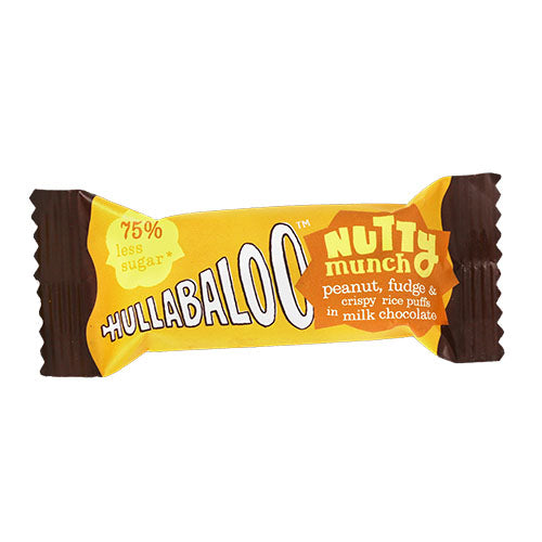 Hullabaloo Nutty Munch - Milk Chocolate Coated Peanut, Fudge and Crispy Rice Puffs 30g [WHOLE CASE] by Hullabaloo - The Pop Up Deli