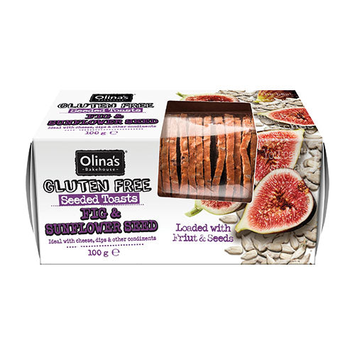 Olina's Bakehouse Seeded Toast Gluten Free- Fig & Sunflower Seed 100g [WHOLE CASE] by Olina's Bakehouse - The Pop Up Deli