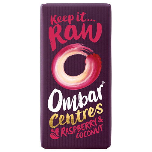 Ombar Raspberry & Coconut Centre 35g [WHOLE CASE] by Ombar - The Pop Up Deli