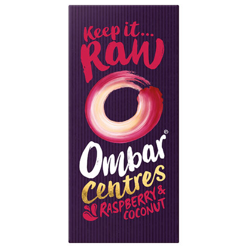 Ombar Raspberry & Coconut Centre 70g [WHOLE CASE] by Ombar - The Pop Up Deli
