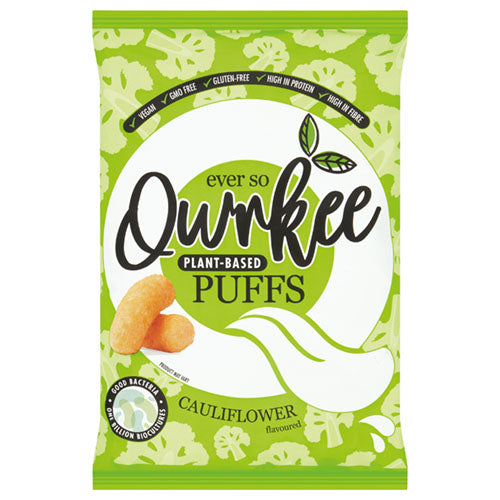 Qwrkee Puffs Cauliflower Flavour 80g [WHOLE CASE] by Qwrkee Foods - The Pop Up Deli