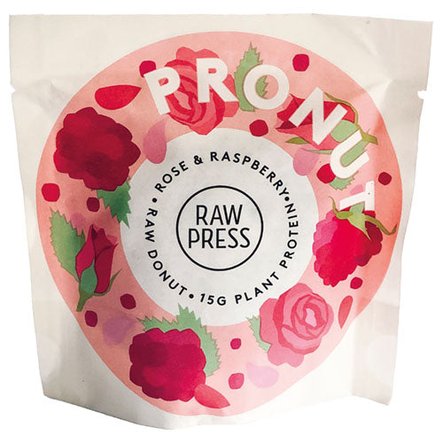 Raw Press Rose & Raspberry Pronut 60g [WHOLE CASE] by Raw Press - The Pop Up Deli