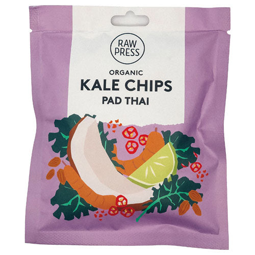 Raw Press Pad Thai Kale Chips 20g [WHOLE CASE] by Raw Press - The Pop Up Deli