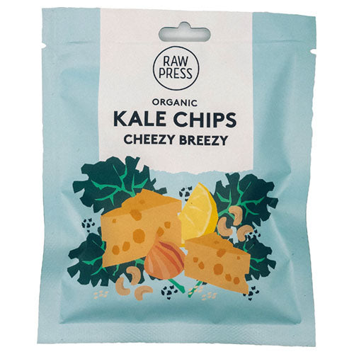 Raw Press Cheezy Breezy Kale Chips 20g [WHOLE CASE] by Raw Press - The Pop Up Deli