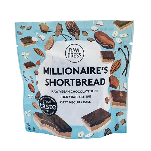 Raw Press Raw Millionaire's Shortbread 65g [WHOLE CASE] by Raw Press - The Pop Up Deli
