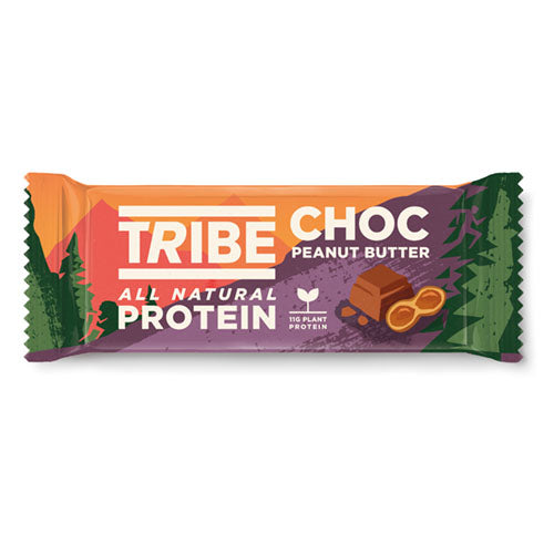 TRIBE Choc Peanut Butter Vegan Protein Bar 50g [WHOLE CASE] by TRIBE - The Pop Up Deli