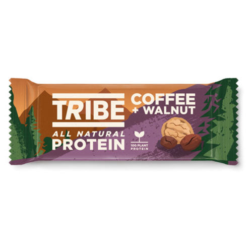 TRIBE Coffee + Walnut Vegan Protein Bar 50g [WHOLE CASE] by TRIBE - The Pop Up Deli