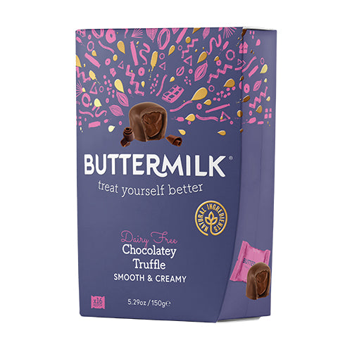 Buttermilk Dairy Free Chocolatey Truffle Little Gift 150g [WHOLE CASE] by Buttermilk - The Pop Up Deli