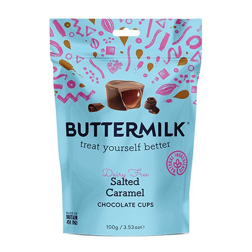 Buttermilk Dairy Free Salted Caramel Cup Pouch 100g [WHOLE CASE] by Buttermilk - The Pop Up Deli