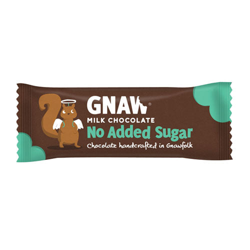 Gnaw Chocolate No Added Sugar Milk Chocolate Bar 35g [WHOLE CASE] by Gnaw Chocolate - The Pop Up Deli