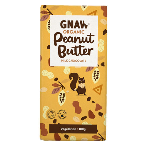 Gnaw Organic Milk Chocolate Peanut Butter [WHOLE CASE] by Gnaw Chocolate - The Pop Up Deli