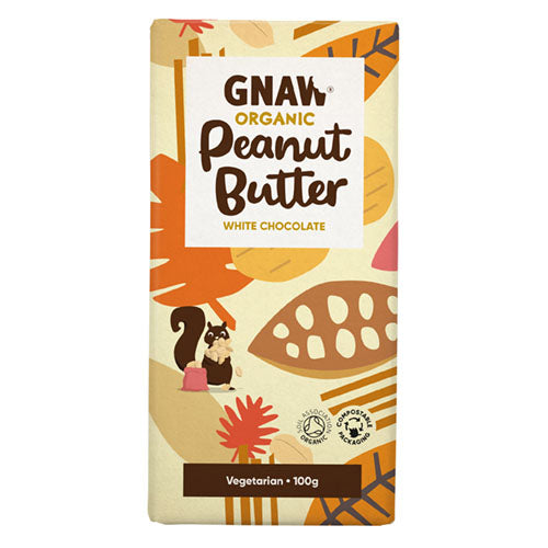 Gnaw Organic White Chocolate Peanut Butter [WHOLE CASE] by Gnaw Chocolate - The Pop Up Deli