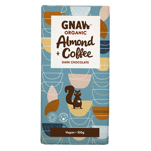 Gnaw Organic Dark Chocolate Almond & Coffee [WHOLE CASE] by Gnaw Chocolate - The Pop Up Deli