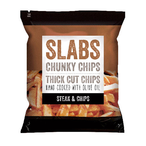 Slabs Chunky Chips Steak & Chips 60g [WHOLE CASE] by Slabs - The Pop Up Deli