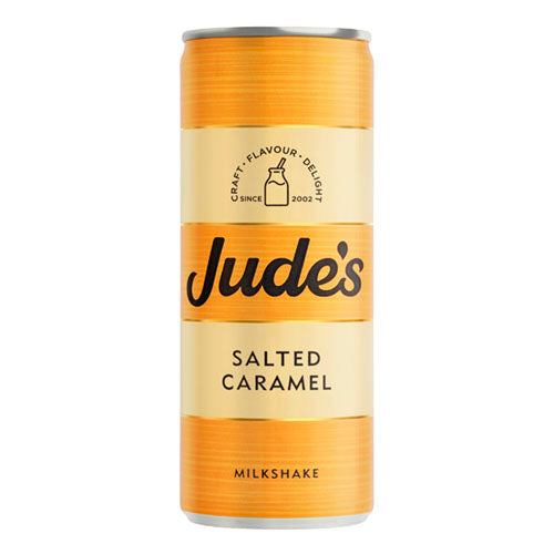 Jude's Salted Caramel Milkshake 250ml Can [WHOLE CASE] by Jude's - The Pop Up Deli