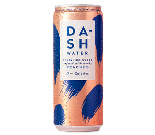 Dash Water Sparkling Peach 330ml Can [WHOLE CASE] by Dash Water - The Pop Up Deli