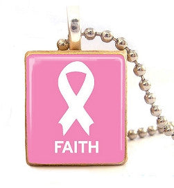 """Faith"" scrabble tile pendant"