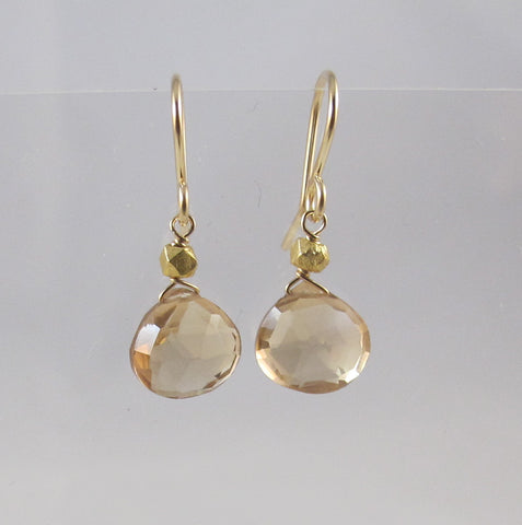Champagne Citrine Drop earrings