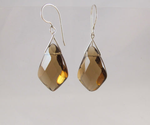Large Twinkling Briolette earrings