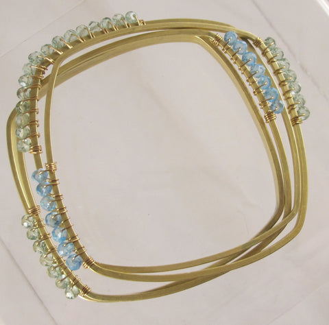 Blue/Green Gemstone bangles