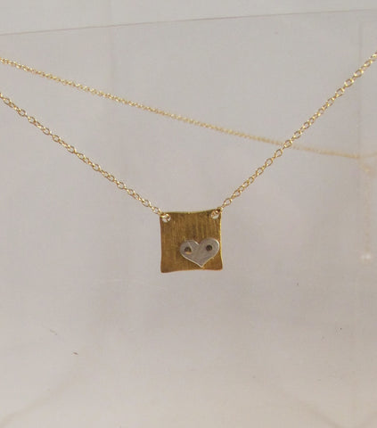 Riveted Tiny Square necklace