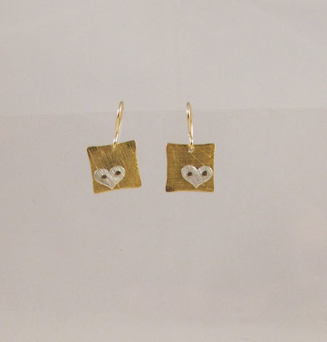 Riveted Tiny Square earrings