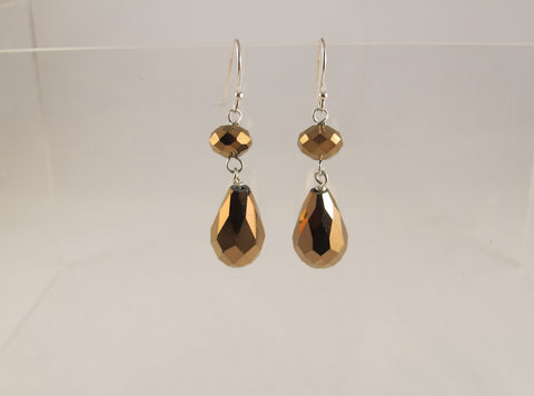 Copper Briolette earrings