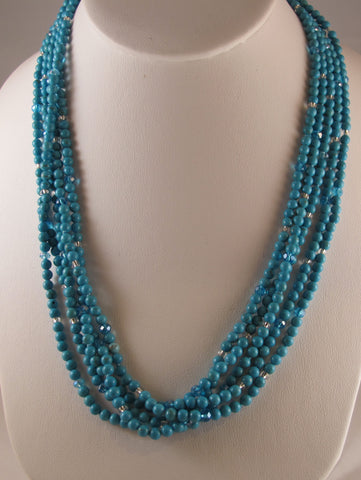 5-Strand Magnesite necklace