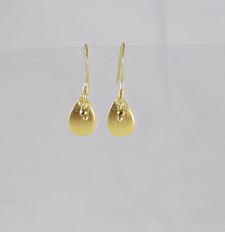Curved Gold Teardrops