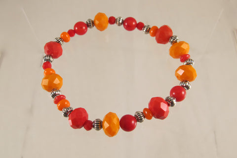 Fiery Colored Stretch bracelet