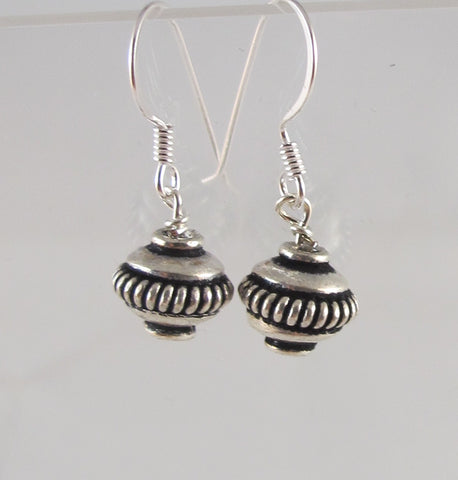 Open Circle Bali Ball Earrings