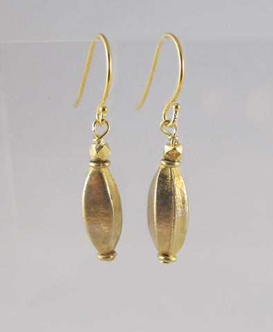 Matte Gold Elongated Earrings