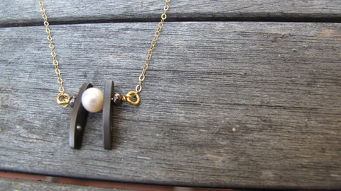 Pearl & Hematite necklace