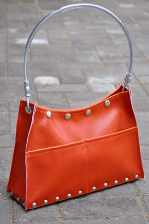 Orange Scoop Purse