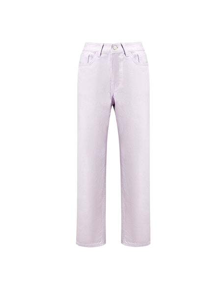 Pastel Purple Straight-leg Denim