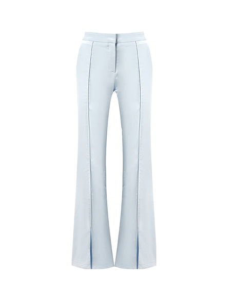 Baby Blue Pleated Flared Pant