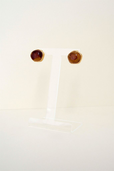 Yara Earrings - Brown - Style Mafia