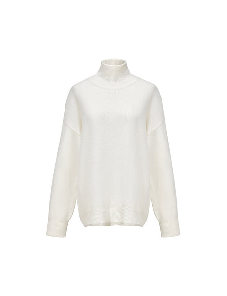 White Over-Sized Turtleneck Sweater
