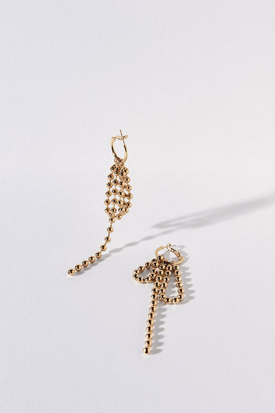 Rocha Earrings Gold Style Mafia