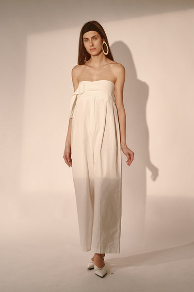 Yura Jumpsuit - White - Sleeveless - Style Mafia