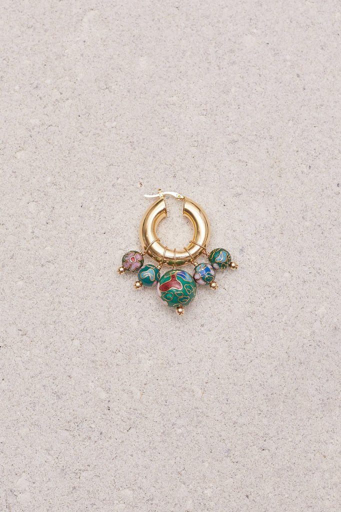 Eliou - Sandro Jade Cloisonne Earrings