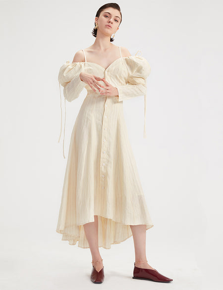 Ajon Dress - Beige