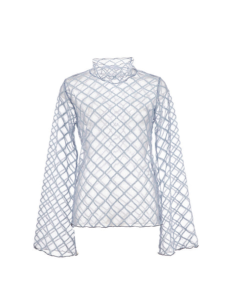Grid Top - Blue