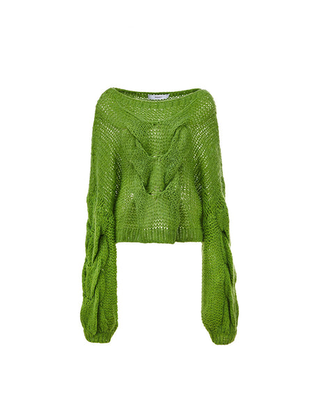 Knot Sweater - Green