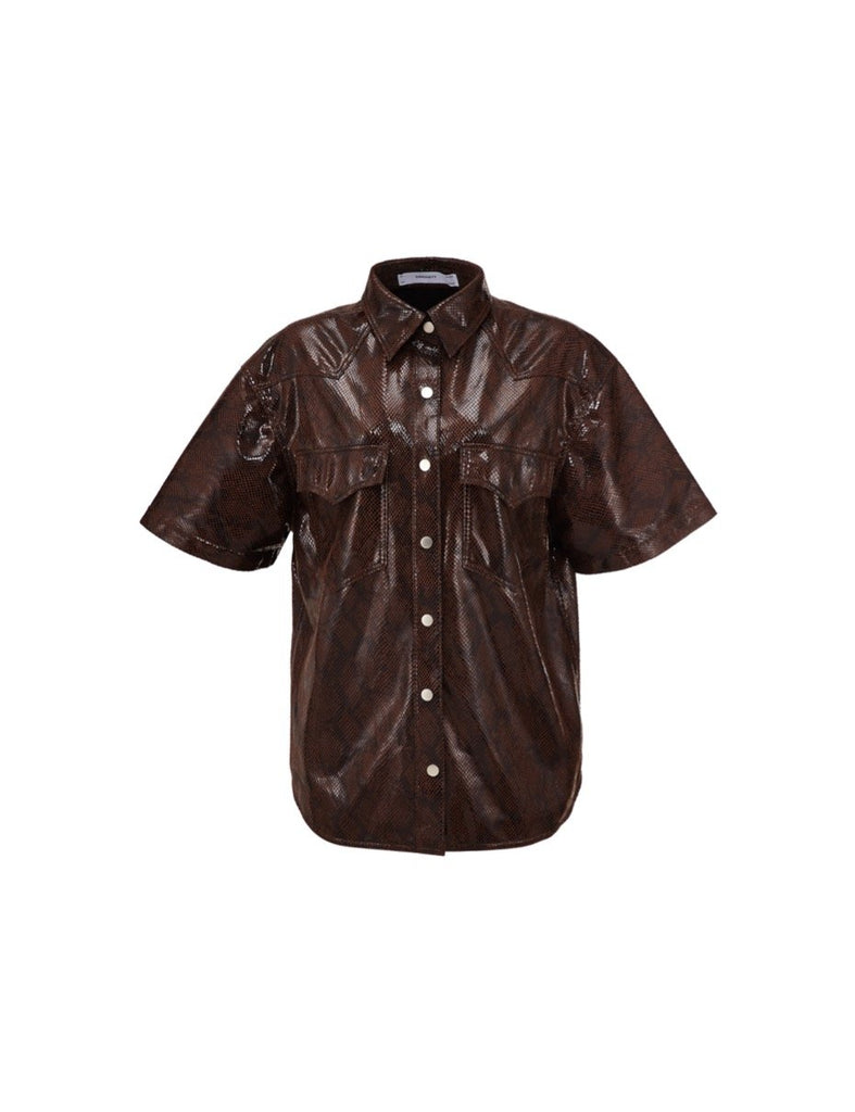 Milas Top - Brown